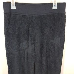 W NORTH FACE BLACK SWEAT PANT ZIPPER POCKET (180)